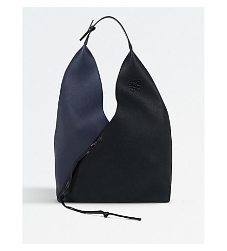 LOEWE Sling leather handbag (Midnight+blue/black