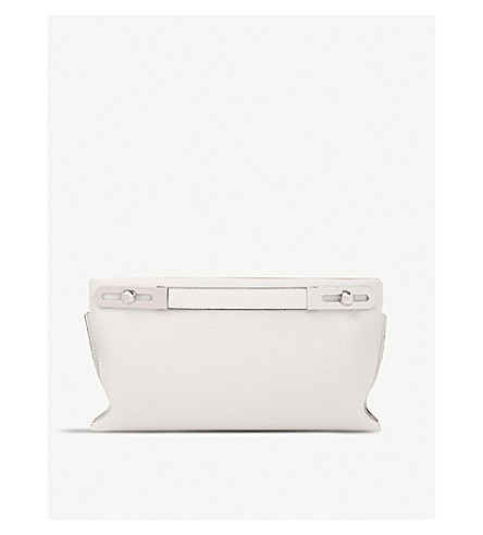 LOEWE Missy small leather bag (Soft+white/amber