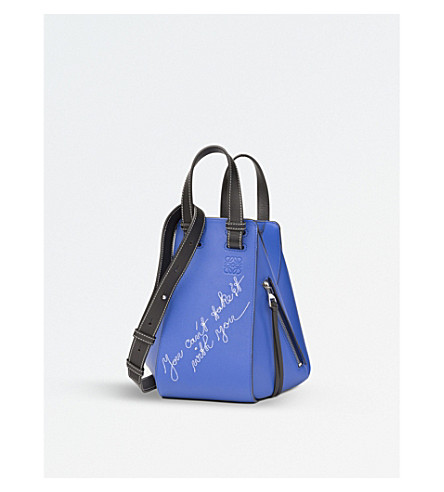LOEWE Hammock small leather shoulder bag (Electric+blue