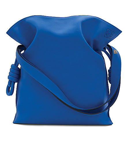 LOEWE Flamenco large knot bag (Electric blue