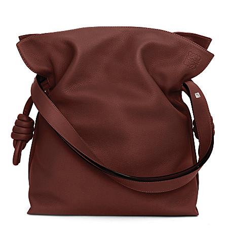 LOEWE Flamenco large knot bag (Maple+brown