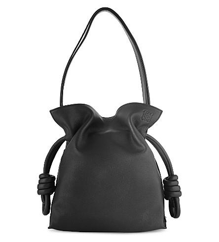 LOEWE Flamenco knot bag (Black
