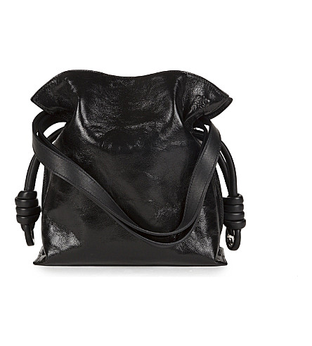 LOEWE Flamenco knot small leather bag (Black