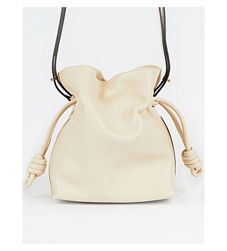 LOEWE Flamenco Knot small leather bag (Ivory