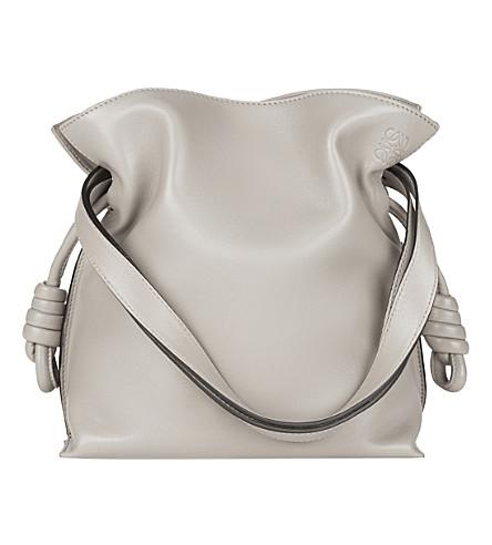 LOEWE Flamenco Knot small leather bag (Smoke+grey