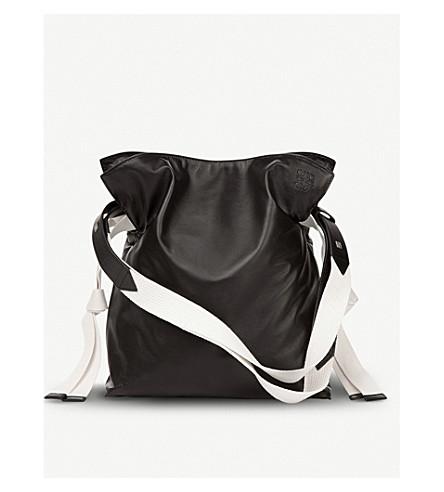 LOEWE Flamenco knot webbing leather bag (Black