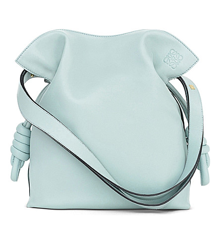 LOEWE Flamenco knot leather bag (Aqua