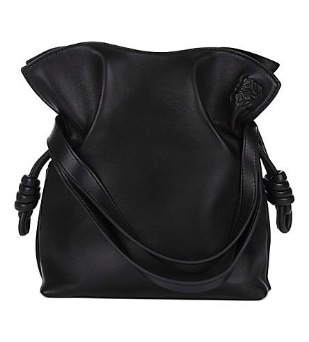 LOEWE Flamenco knot small leather bag (Black