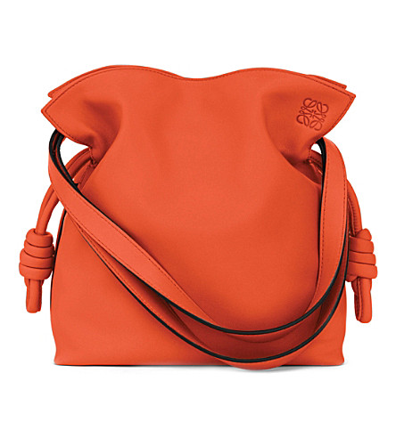 LOEWE Flamenco knot small leather bag (Coral