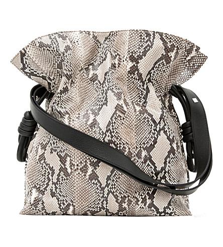 LOEWE Flamenco knot python bag (Natural
