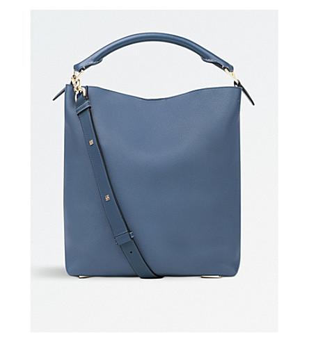 LOEWE Leather T bucket bag (Indigo