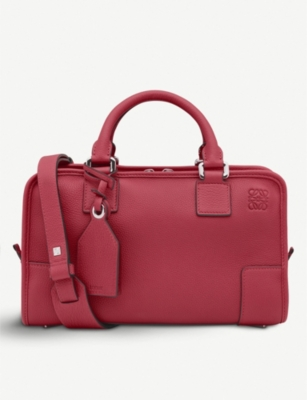 Rouge Red Amazona 28 Leather Tote Bag