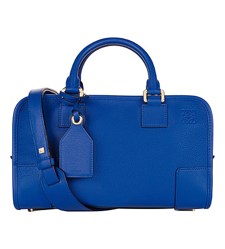 LOEWE Amazona 28 leather tote bag (Electric+blue