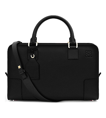 LOEWE Amazona leather tote bag (Black/gold