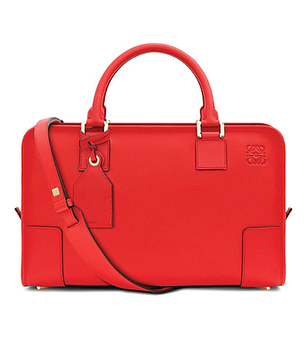 LOEWE Amazona leather tote bag (Primary red