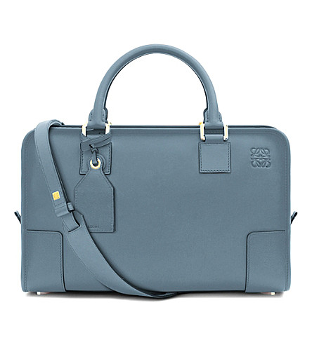 LOEWE Amazona leather tote bag (Stone blue