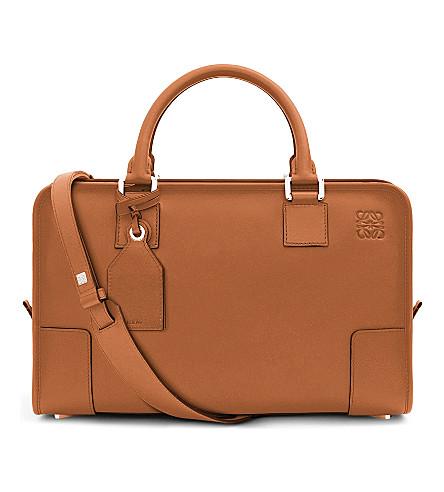 LOEWE Amazona leather tote bag (Tan