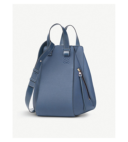 LOEWE Hammock leather bag (Indigo