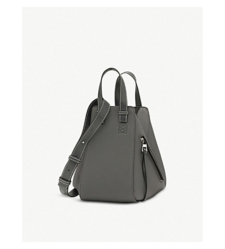 LOEWE Hammock small leather shoulder bag (Anthracite