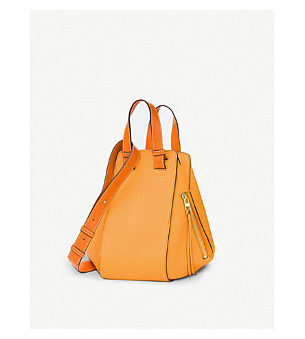LOEWE Hammock small leather shoulder bag (Apricot/orange