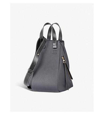 LOEWE Hammock medium leather shoulder bag (Midnight+blue/black
