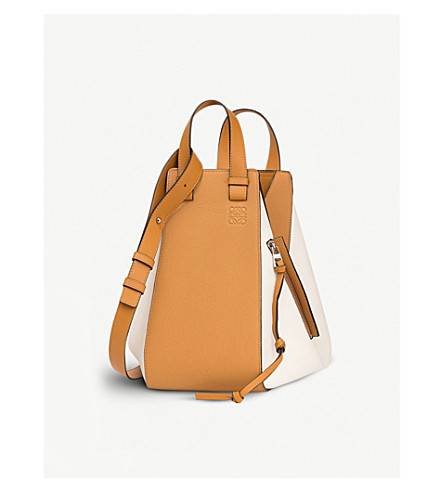 LOEWE Hammock medium leather shoulder bag (Soft+white/amber
