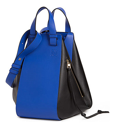 LOEWE Hammock leather bag (Electric+blue/black
