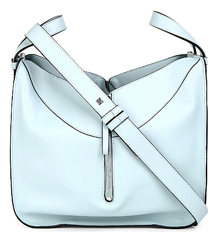 LOEWE Hammock leather shoulder bag (Aqua