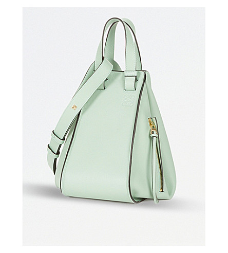 LOEWE Hammock small leather shoulder bag (Aqua