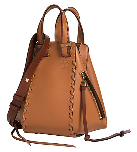 LOEWE Hammock Laced leather bag (Tan