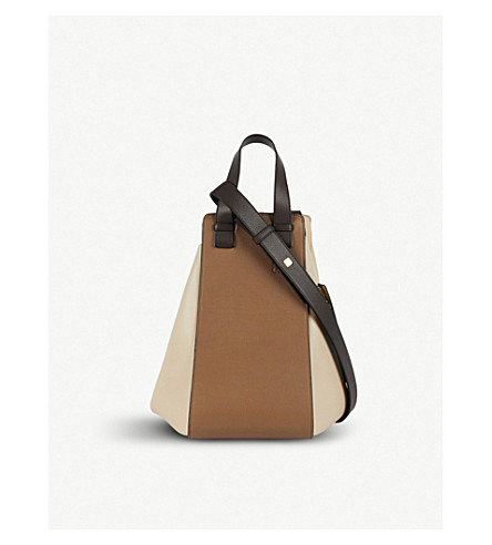 LOEWE Hammock leather bag (Dark+taupe+multitone