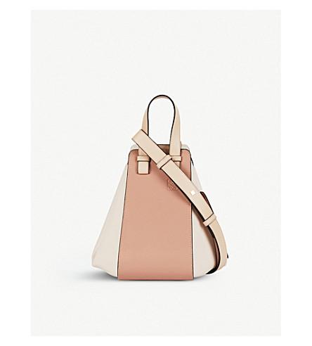 LOEWE Hammock leather shoulder bag (Blush+multitone