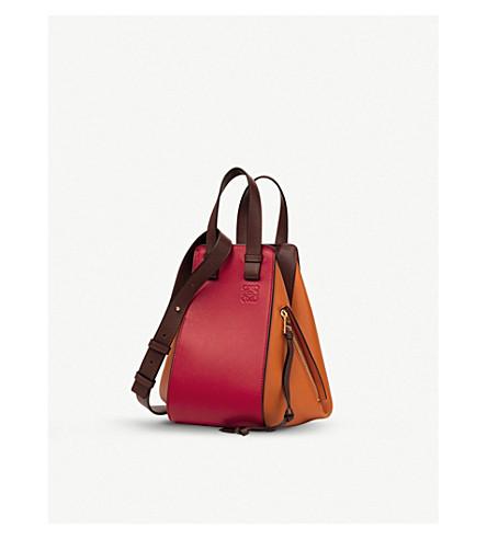 LOEWE Hammock small leather handbag (Ginger/rouge