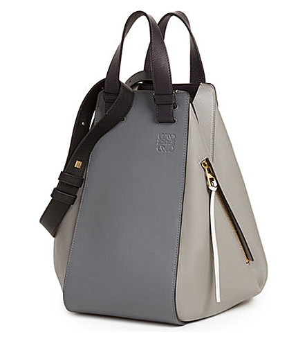 LOEWE Hammock leather bag (Grey+multitone