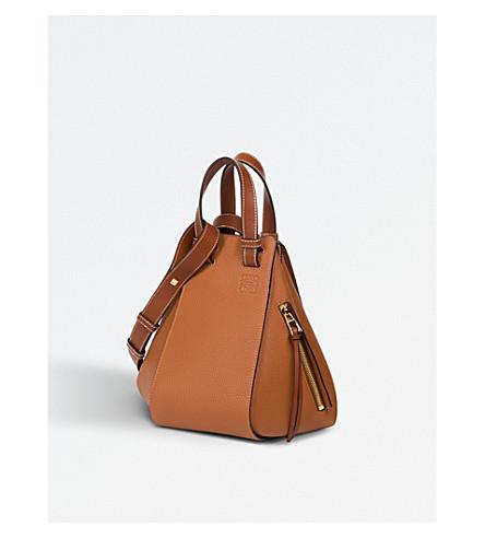 LOEWE Hammock small leather bag (Tan