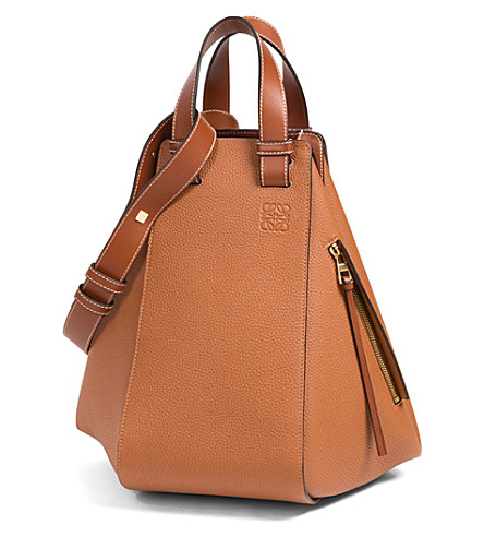 LOEWE Hammock leather shoulder bag (Tan