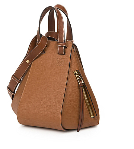 LOEWE Hammock small leather shoulder bag (Tan
