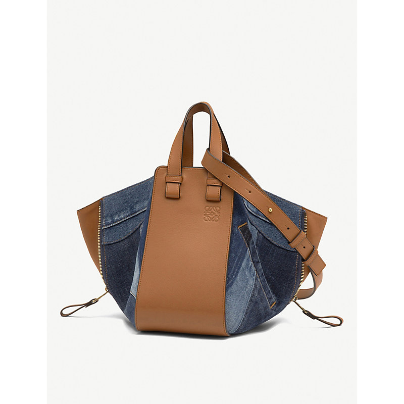 LOEWE Hammock small denim and leather bag