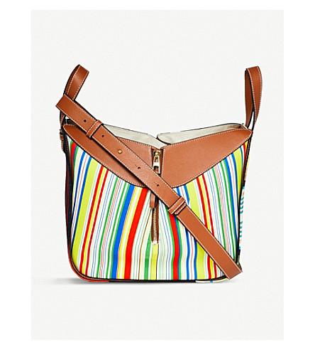 LOEWE Hammock Stripes small canvas shoulder bag (Multicolour