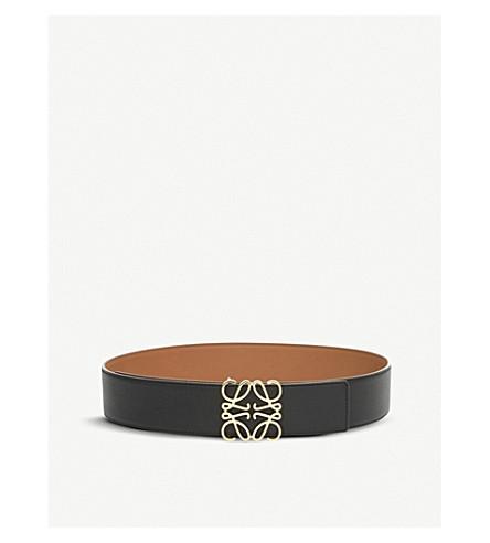 LOEWE Anagram 皮带 (棕褐色/黑色/金色