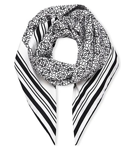 LOEWE Anagram print scarf (Ivory