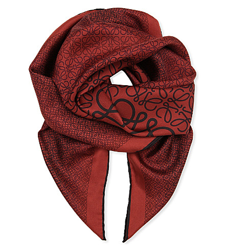 LOEWE Anagram frame scarf (Red