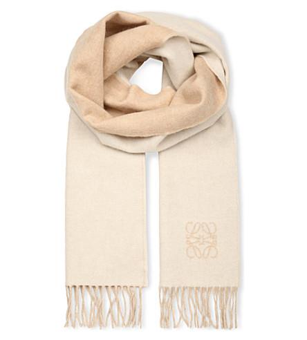 LOEWE Anagram detail scarf (Ivory/sand