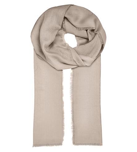 LOEWE Anagram jacquard scarf (Light+grey
