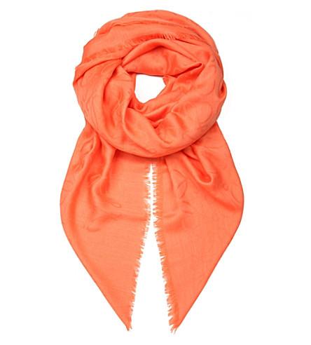 LOEWE Anagram jacquard scarf (Coral
