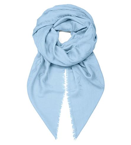 LOEWE Anagram jacquard scarf (Light blue