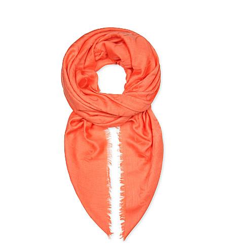 LOEWE Anagram jacquard shawl (Coral