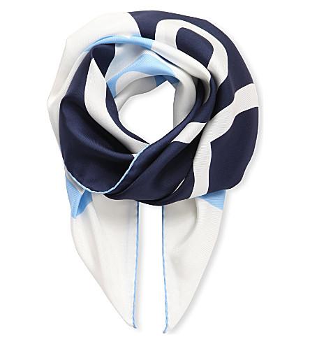 LOEWE Giant anagram scarf (Blue