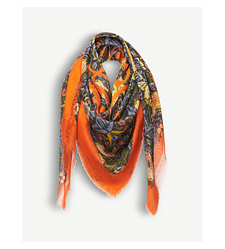 LOEWE Strawberry cashmere-blend scarf (Multicolour