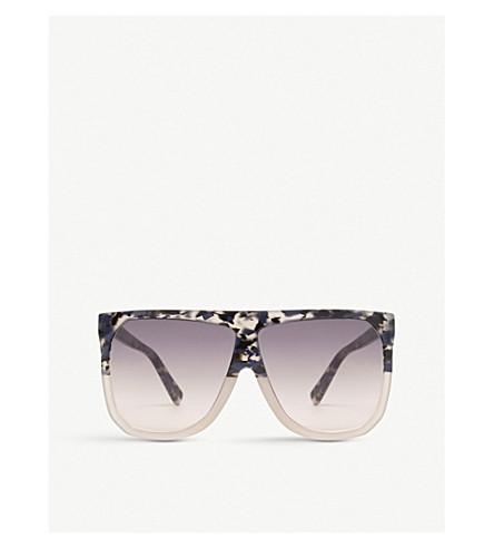 LOEWE Filipa acetate oversized sunglasses (Blue+havana/light+gr